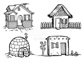 House,Cottage,Cartoon,Igloo...