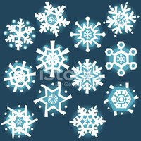 Snowflake,Winter,Cartoon,Se...