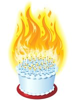 Pleasant Birthday Cake On Fire Clipart Images High Res Premium Images Personalised Birthday Cards Veneteletsinfo