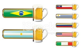 Brazil,Beer Glass,Argentina...