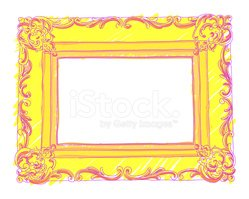 Hand drawn frame (colored)