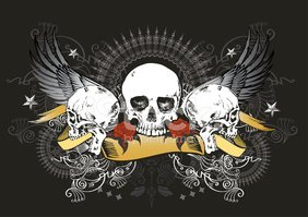 Human Skull,Rock and Roll,W...