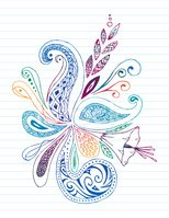 Paisley,Doodle,Lined Paper,...