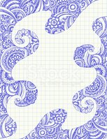 Doodle,Paisley,Scribble,Fra...