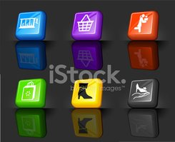 shoe sale internet royalty free vector icon set