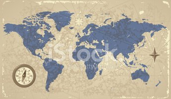 World Map,Old-fashioned,Com...