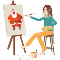 Easel,Painting,Cartoon,Stud...