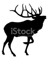 Elk,Deer,Silhouette,Animal,...