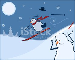Skiing,Snowman,Accident,Chr...