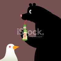 Bear,Soda,Drinking,Bird,Dov...