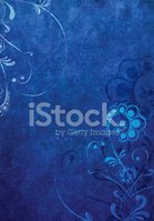Ornate,Floral Pattern,Blue,...