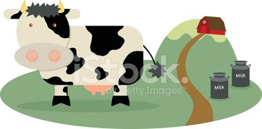 Cow,Milk,Cartoon,Farm,Barn,...