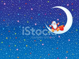 Christmas,Moon,Santa Claus,...