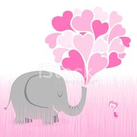 Elephant,Valentine's Day - ...