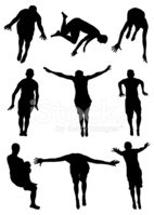 Swimming,Diving,Silhouette,...