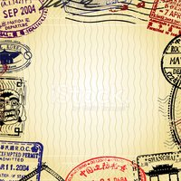 Travel,Rubber Stamp,Backgro...