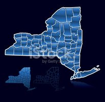 New York State,Map,Cartogra...