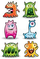 Monster,Alien,Cute,Cartoon,...