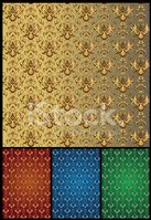 Seamless,Gold Colored,Backg...