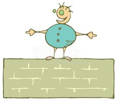 Brick Wall,Cartoon,Child,Li...