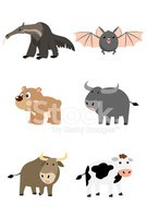 Anteater,Bat - Animal,Carto...