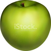 Apple - Fruit,Green Color,F...
