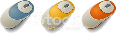 Computer Mouse,Orange Color...