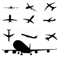Airplane,Silhouette,Commerc...