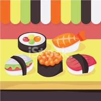 Sushi,Store,Healthy Lifesty...