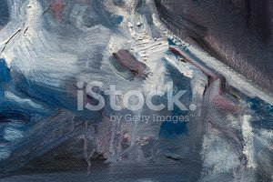 Macro of Purple, Blue and White Oil Painting