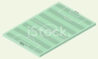 Isometric,Soccer Field,Foot...