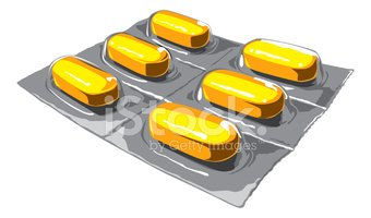 Package of Yellow Pills