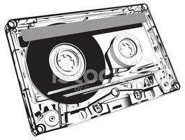 Audio Cassette,Music,Black ...