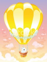Hot Air Balloon,Rabbit - An...