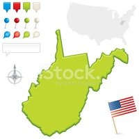 West Virginia,Map,state,Fla...