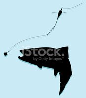 Silhouette,Fishing,Fish,Tro...