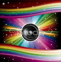 Disco Background for Music Flyers