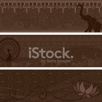 Masala Banners - Brown
