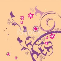 Swirl,Vector,Flower,Backgro...