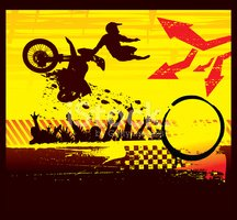 Motocross,Motorcycle,Vector...