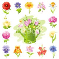 Flower,Cartoon,Springtime,S...