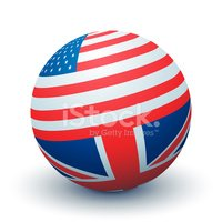 USA,UK,British Flag,Sphere,...