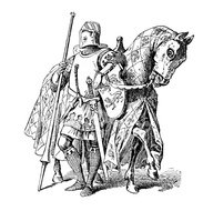 Knight,Medieval,Jousting,Il...