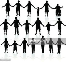 People Holding Hands - United We Stand
