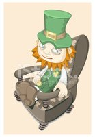 Leprechaun,Vector,Armchair,...