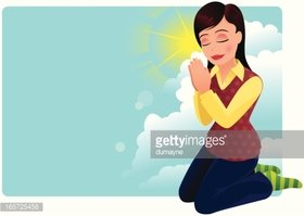 Young Woman Praying Clipart Images High Res Premium Images