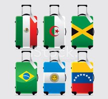 Suitcase,Mexican Flag,Lugga...