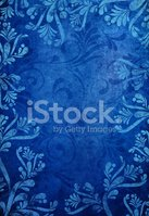blue grunge floral background