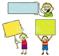 Placard,Banner,Child,Announ...