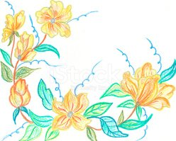 Flower,Crayon,Sketch,Floral...